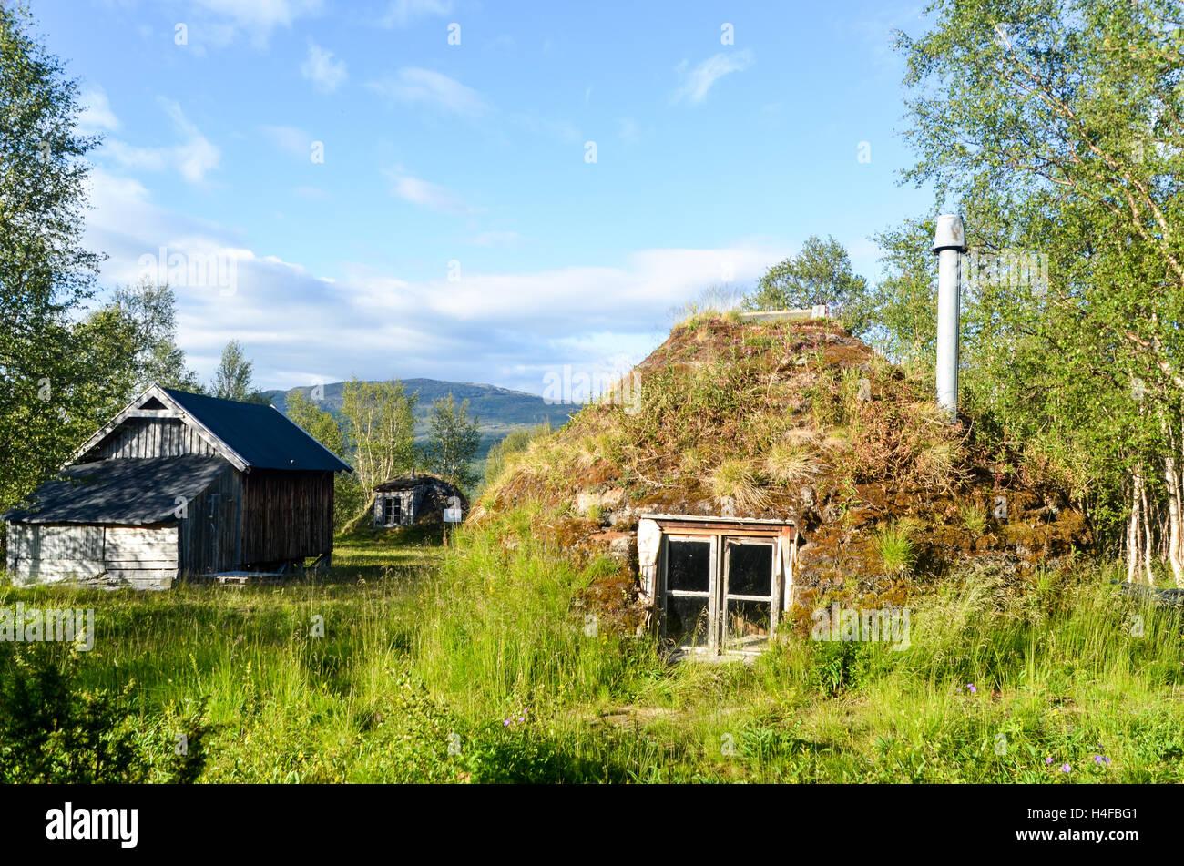 Sami Gausjosjöns camp in Svezia Immagini Stock