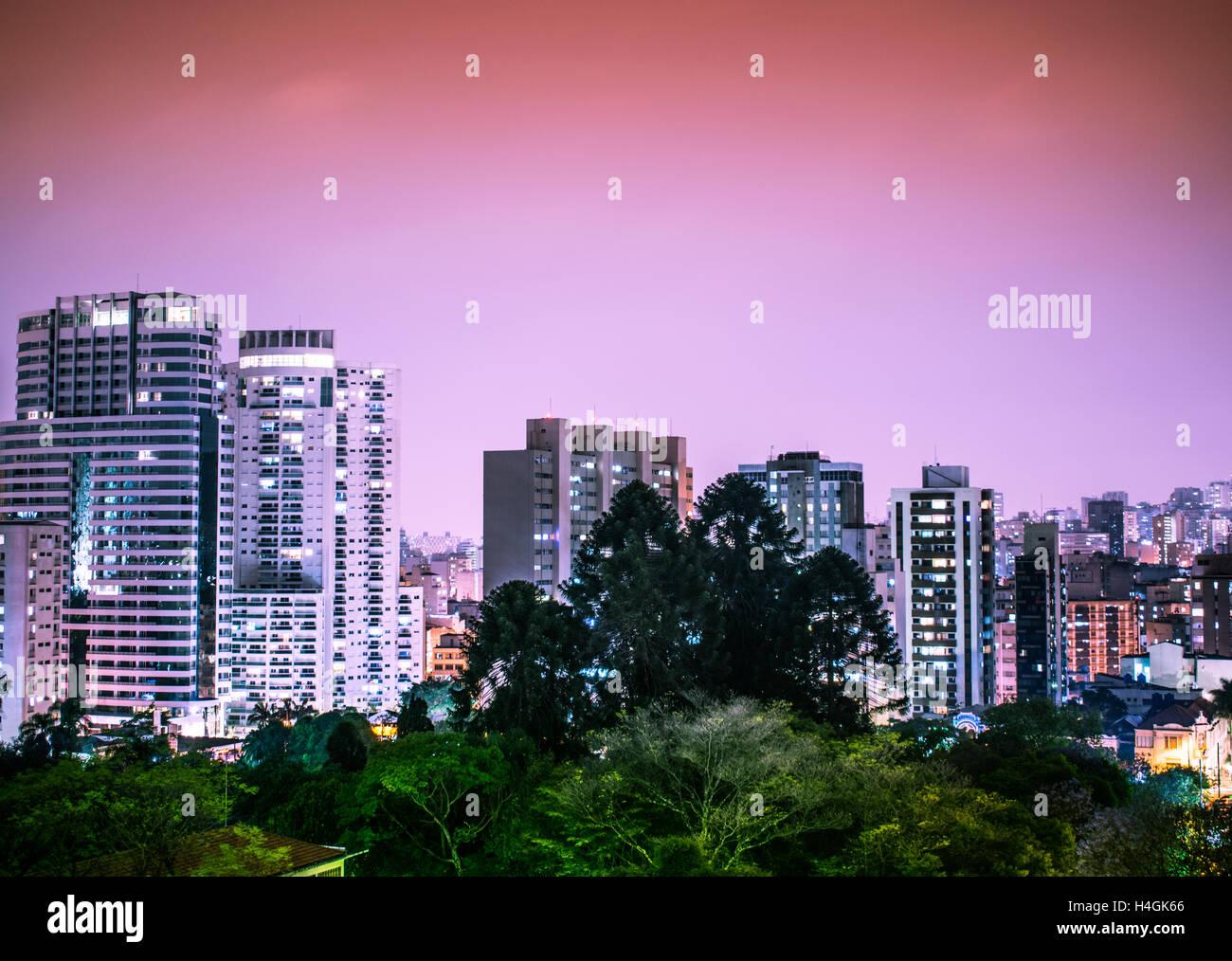 Un panorama di edifici di São Paulo, Brasile Immagini Stock