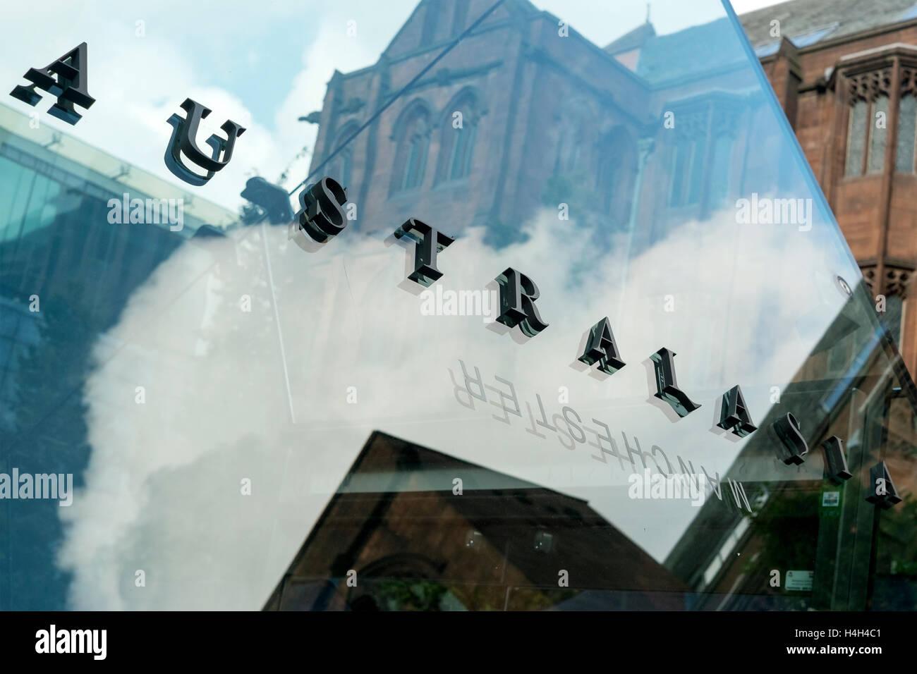Australasia bar & restaurant situato in sotterraneo sul Manchester Deansgate, Manchester, Regno Unito. Immagini Stock