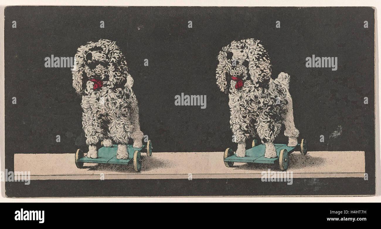 Toy, Cane su ruote, stereo litografia Immagini Stock