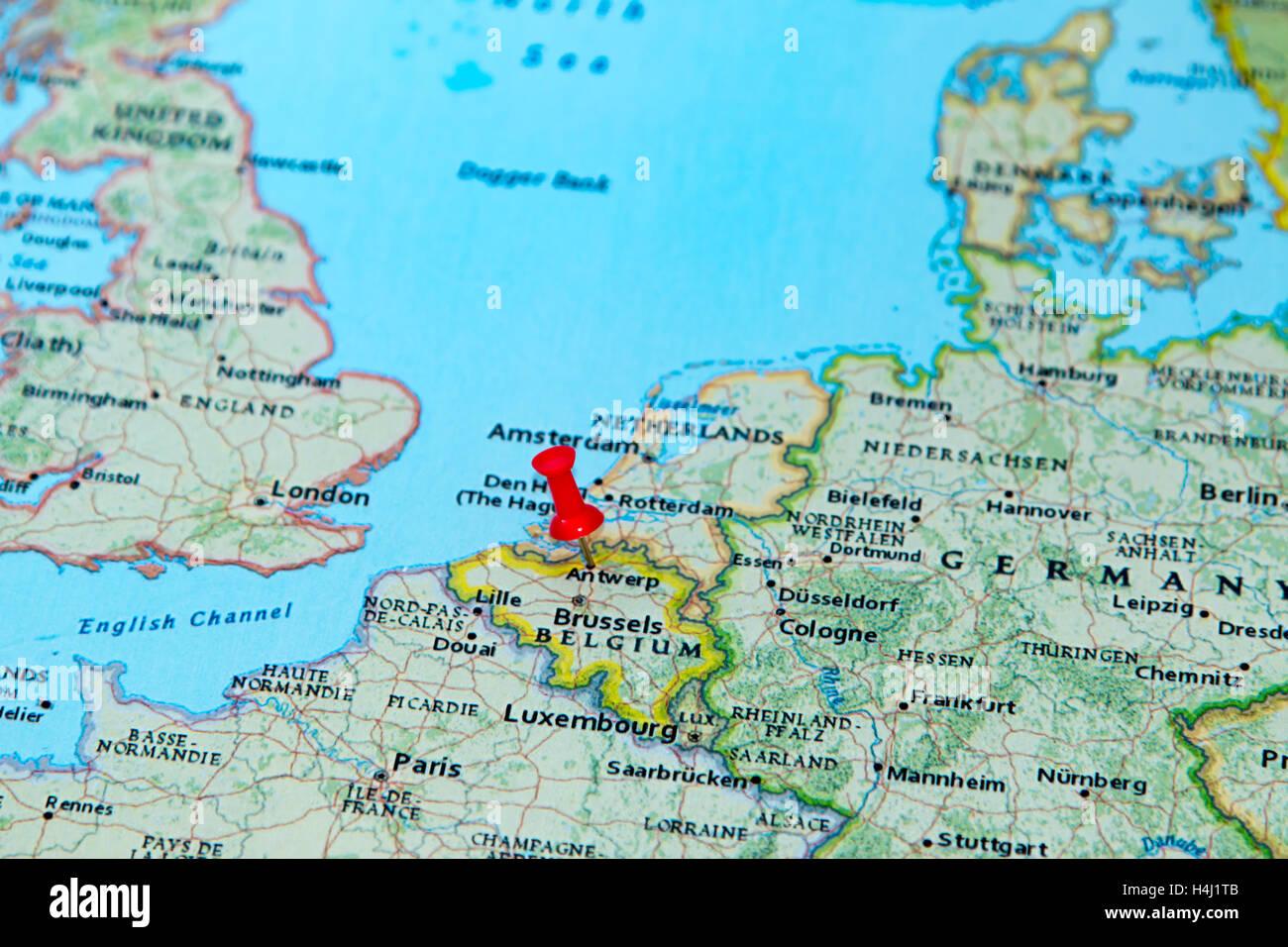 Cartina Fisica Belgio.Mappa Di Anversa Immagini E Fotos Stock Alamy