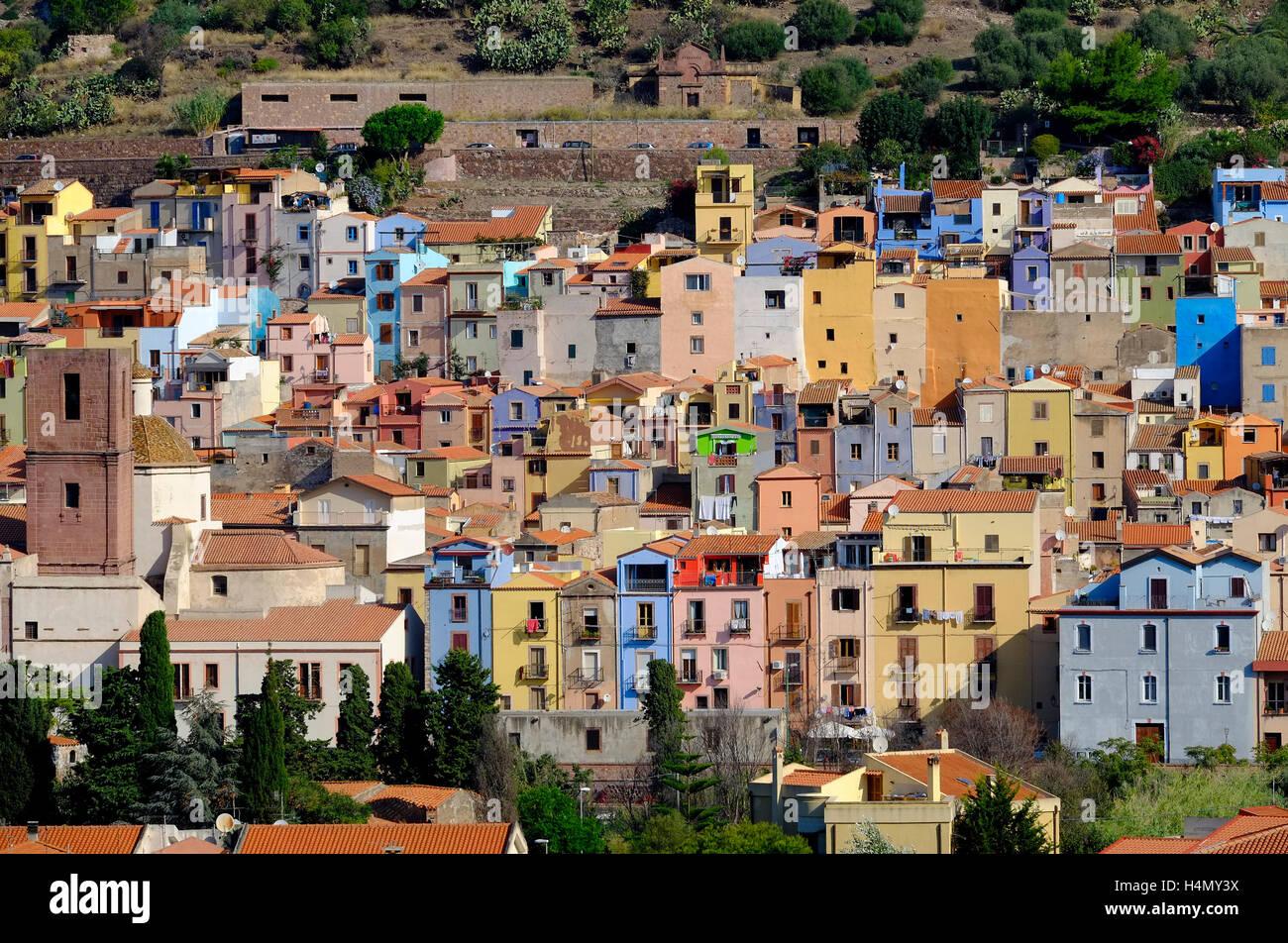 Bosa, Sardegna, Italia Immagini Stock