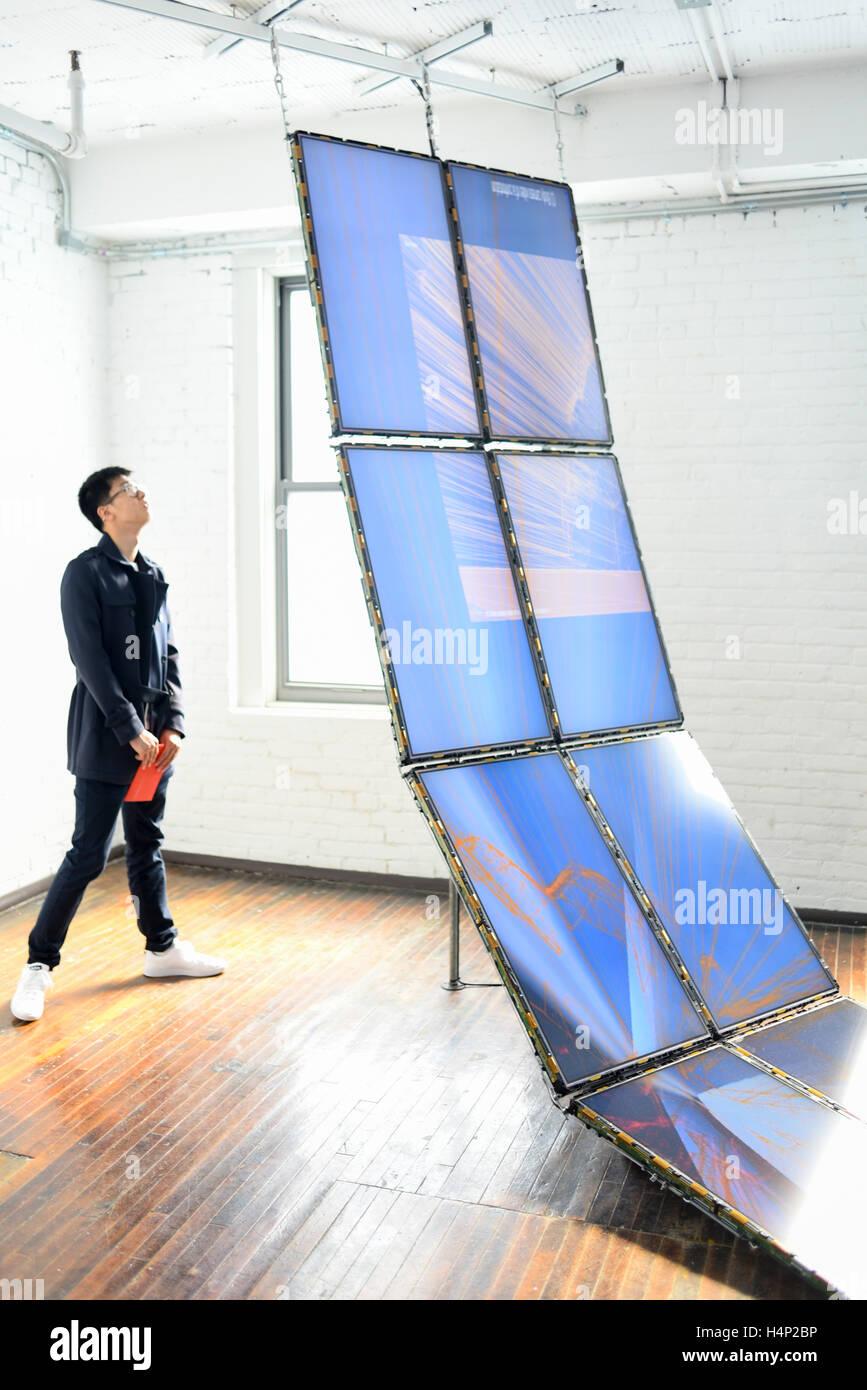 Stati Uniti d'America, Pittsburgh PA Pennsylvania un art display al materasso Fabbrica e Museo galleria d'arte Immagini Stock