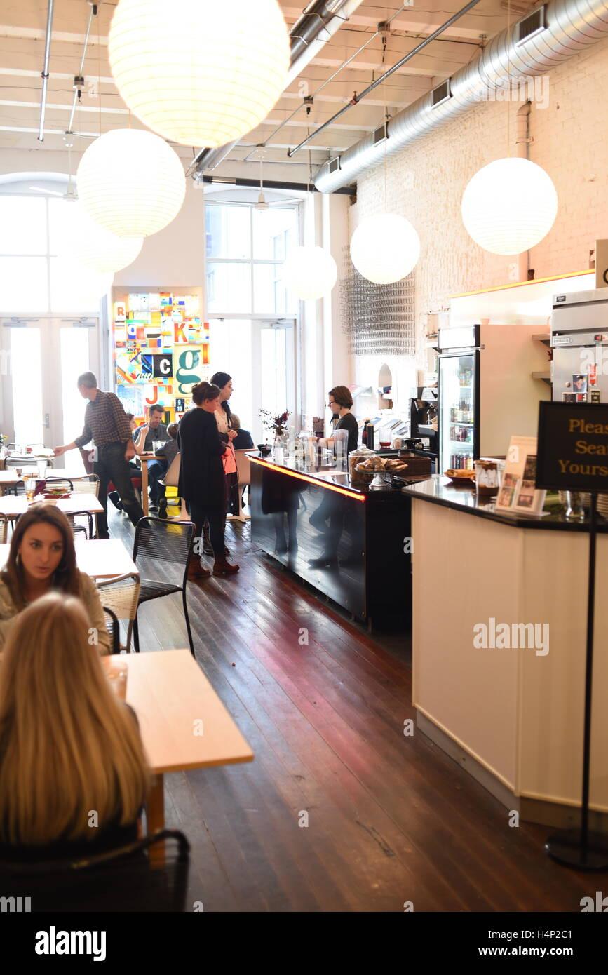 Stati Uniti Pittsburgh PA Pennsylvania il materasso Fabbrica e Museo Cafe art gallery Immagini Stock