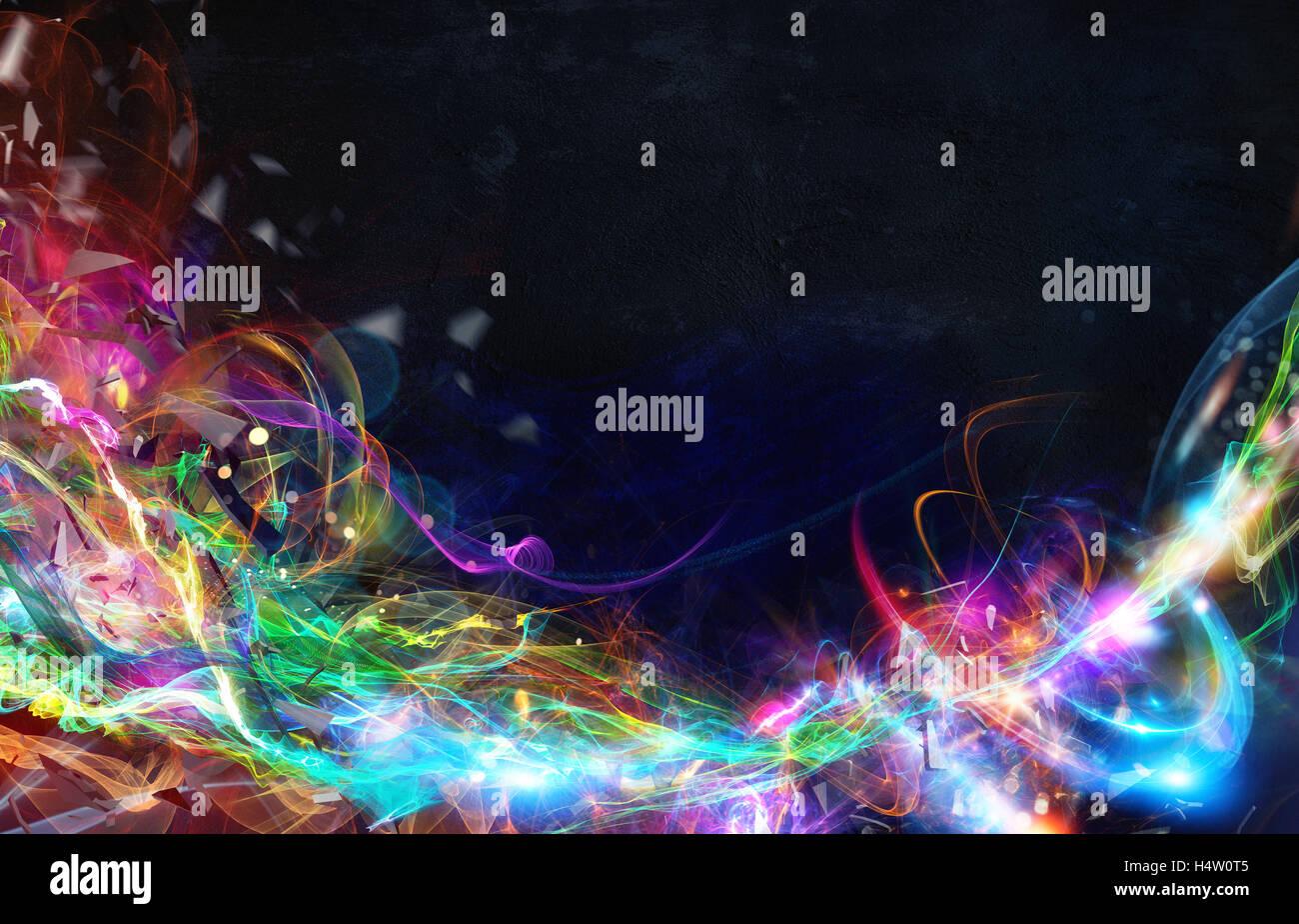 Moderno movimento astratto banner su sfondo scuro Immagini Stock