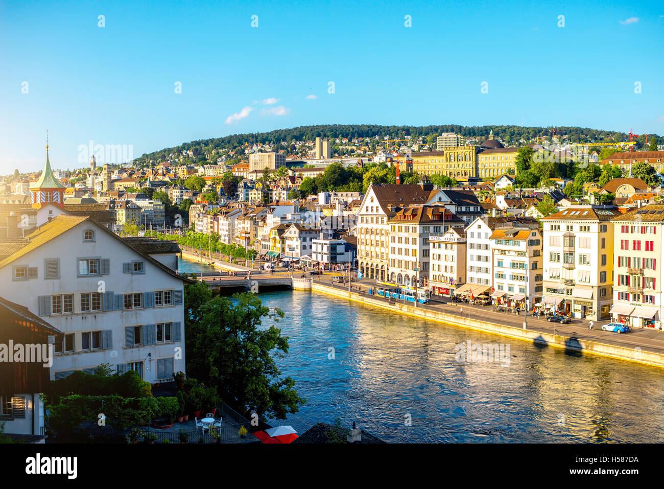 Zurigo Città in Svizzera Immagini Stock