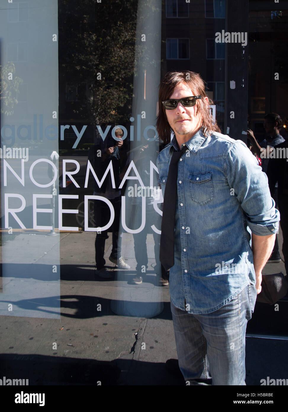 Attore Norman Reedus assiste Norman Reedus: una raffinata arte della fotografia mostra a Voila! Galleria il 22 novembre 2015 a Los Angeles, California, Stati Uniti d'America Foto Stock
