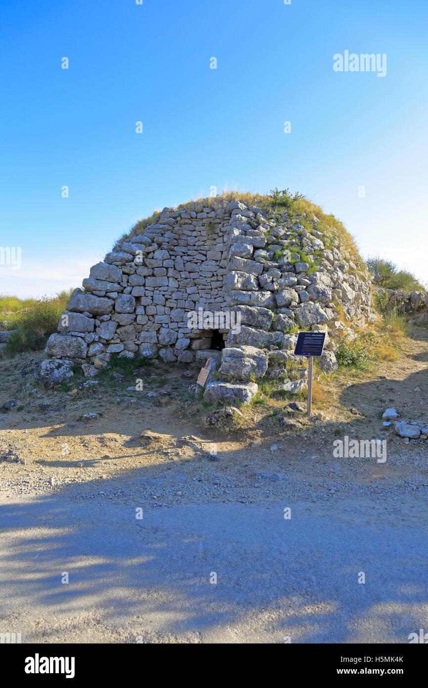 Fornace di calce sulla Roskarnika, Velo Grablje, Isola di Hvar, Croazia, Dalmazia, costa dalmata, l'Europa. Immagini Stock