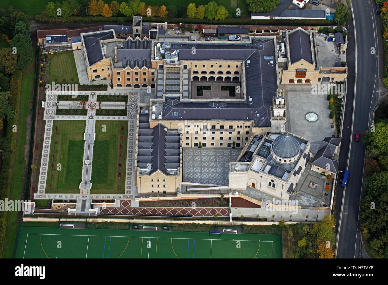 Vista aerea del centro di Oxford per gli studi islamici, REGNO UNITO Immagini Stock