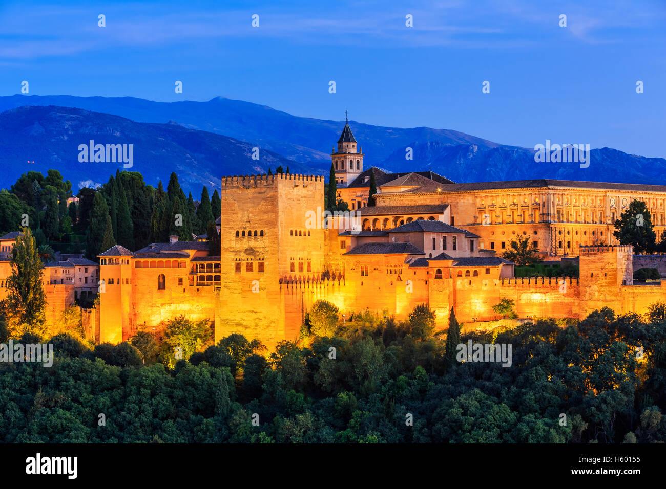 Alhambra di Granada, Spagna. Immagini Stock