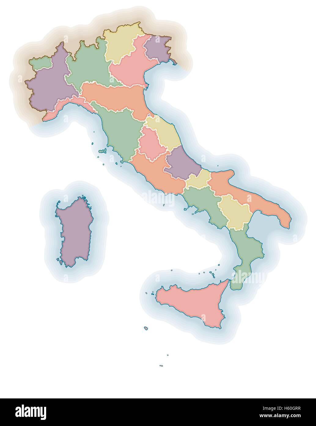 Cartina Italia Politica Vuota.Campania Map Vector Immagini E Fotos Stock Alamy