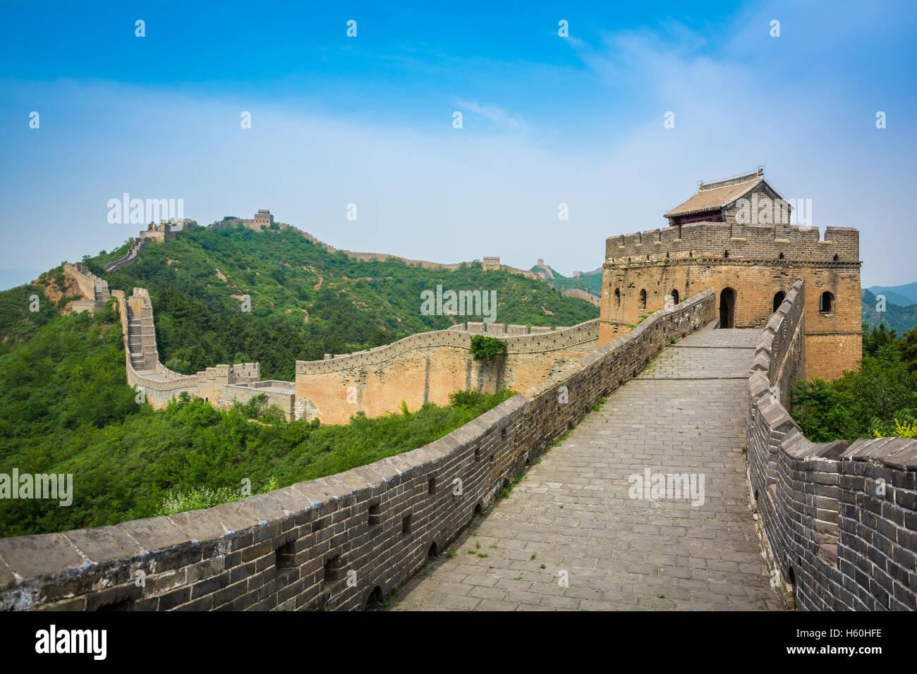 La Grande Muraglia a Pechino, Cina Immagini Stock