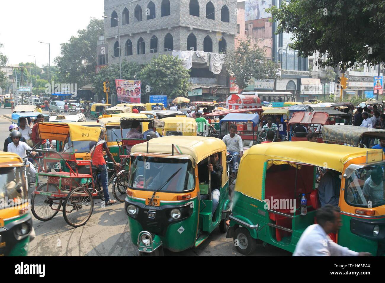Netaji Subhash Marg, Vecchia Delhi, India, subcontinente indiano, Asia del Sud Immagini Stock