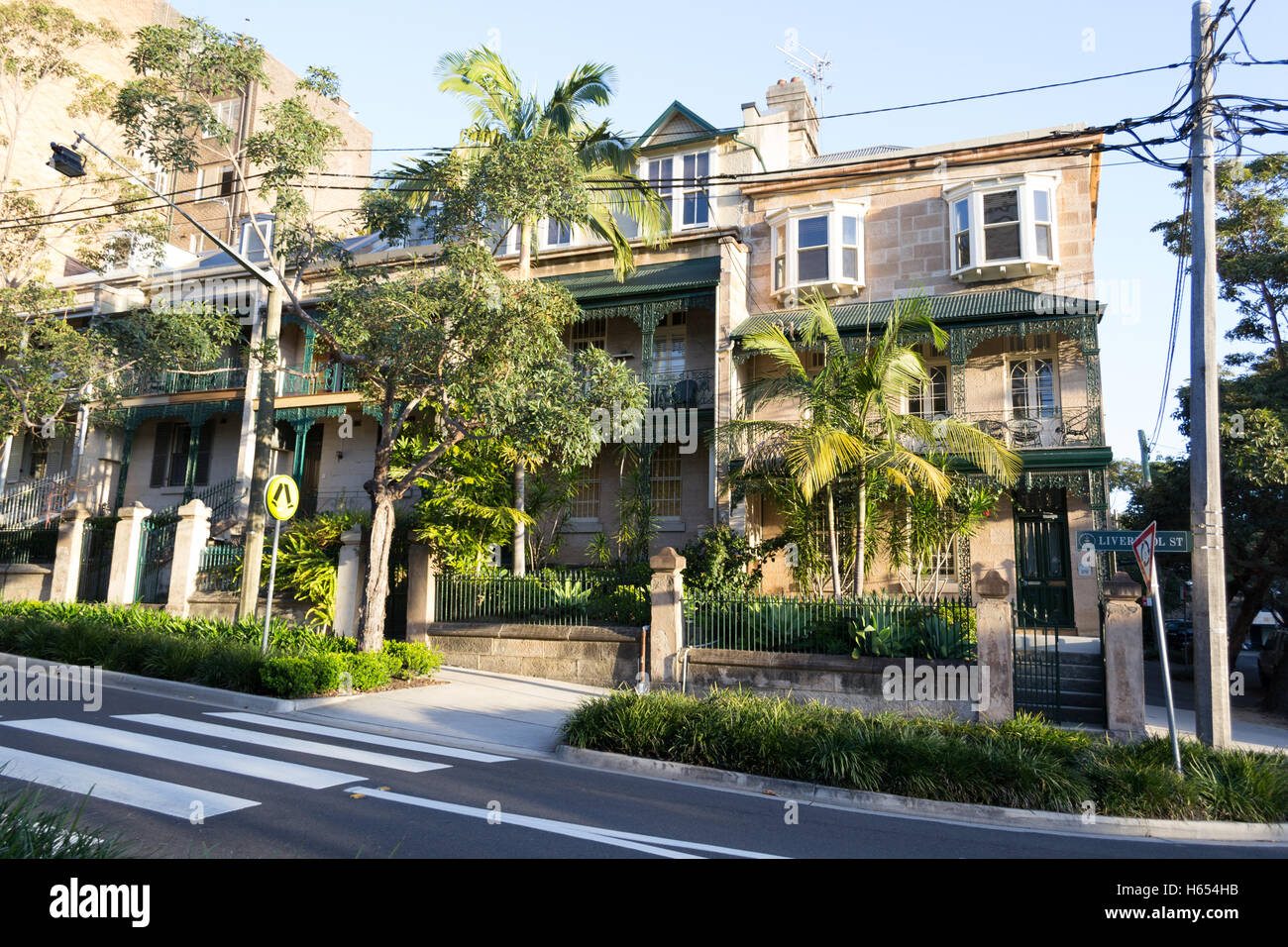 Case Tipiche Australiane : Tipiche case in stile vittoriano a sydney foto & immagine stock