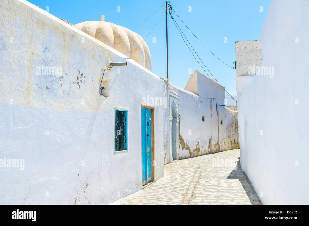 I bagni pubblici (hammam) situato nella Medina di Kairouan, Tunisia. Immagini Stock