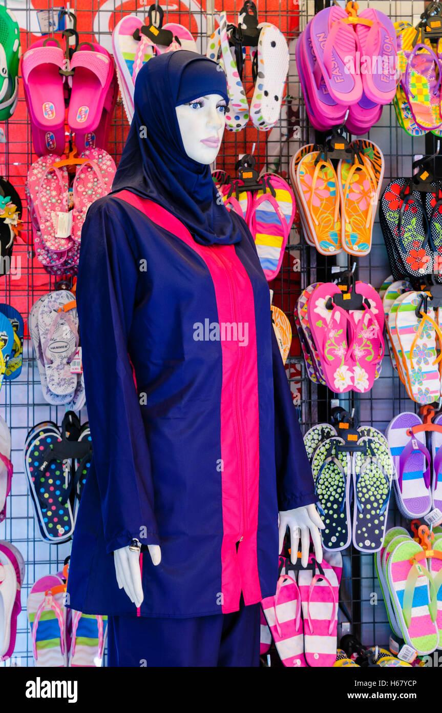 HB Da Donna Islamica Musulmana PIENA COPERTURA Burkini modestia Costumi da bagno Costume nuoto UK