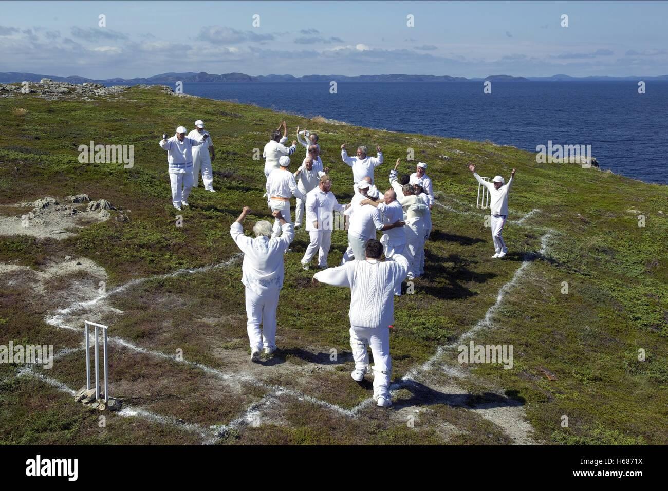 Partita di cricket in scena la grand seduzione (2013) Immagini Stock
