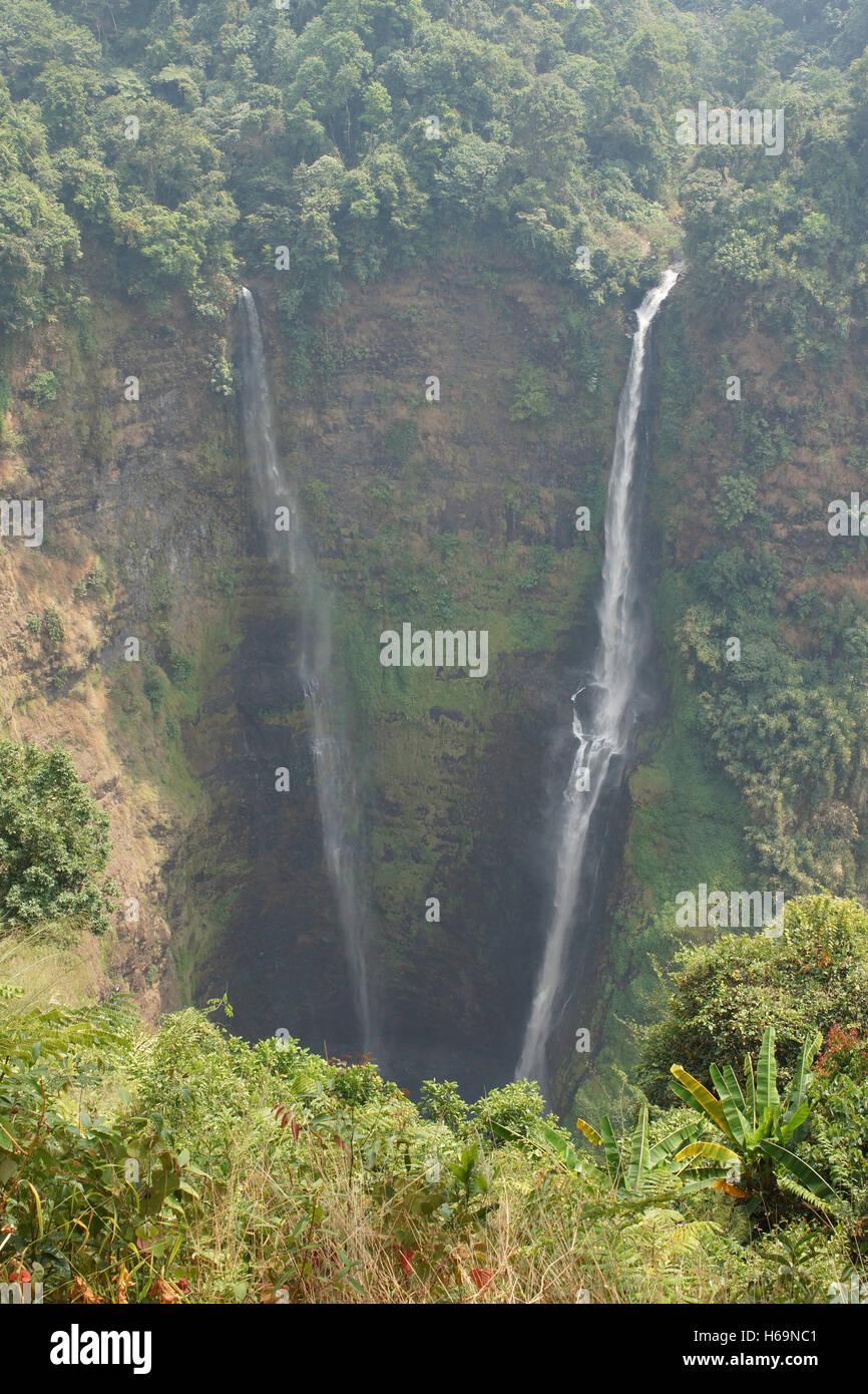 Tad Fane cascata, Bolaven Plateau, Laos, Asia Foto Stock