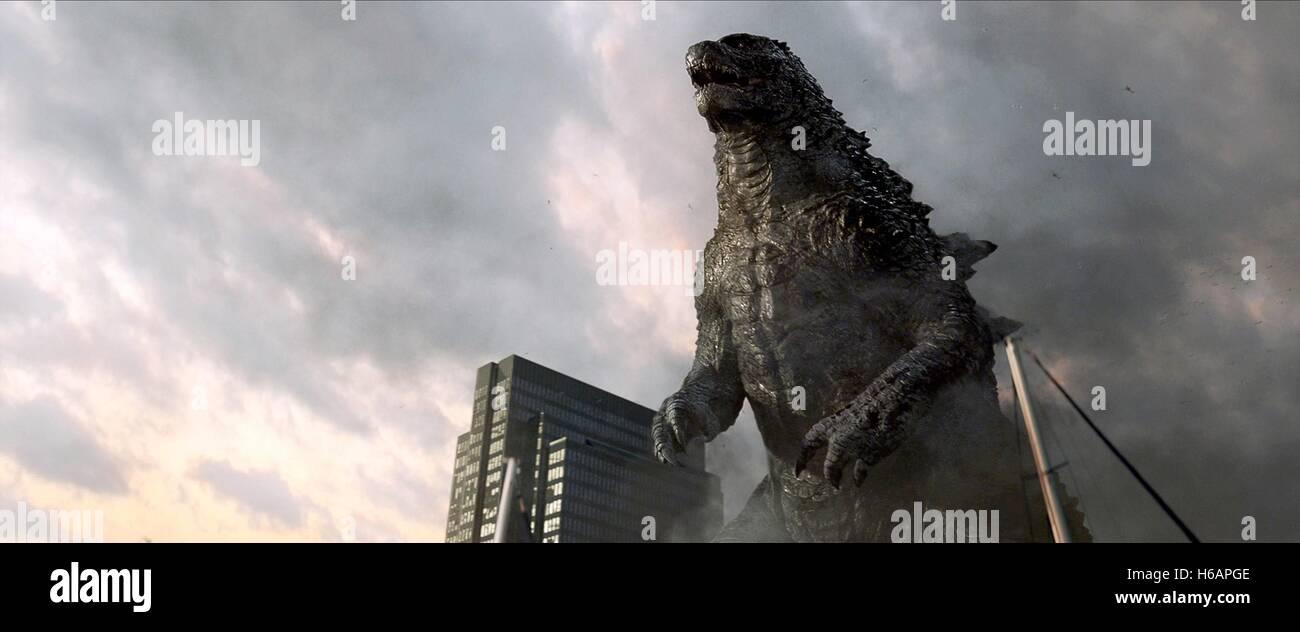 GODZILLA Godzilla (2014) Immagini Stock