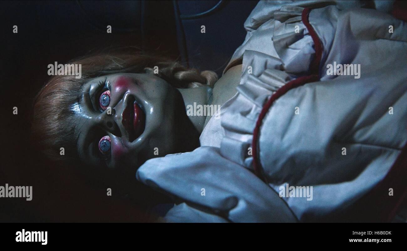 La bambola di ANNABELLE (2014) Immagini Stock