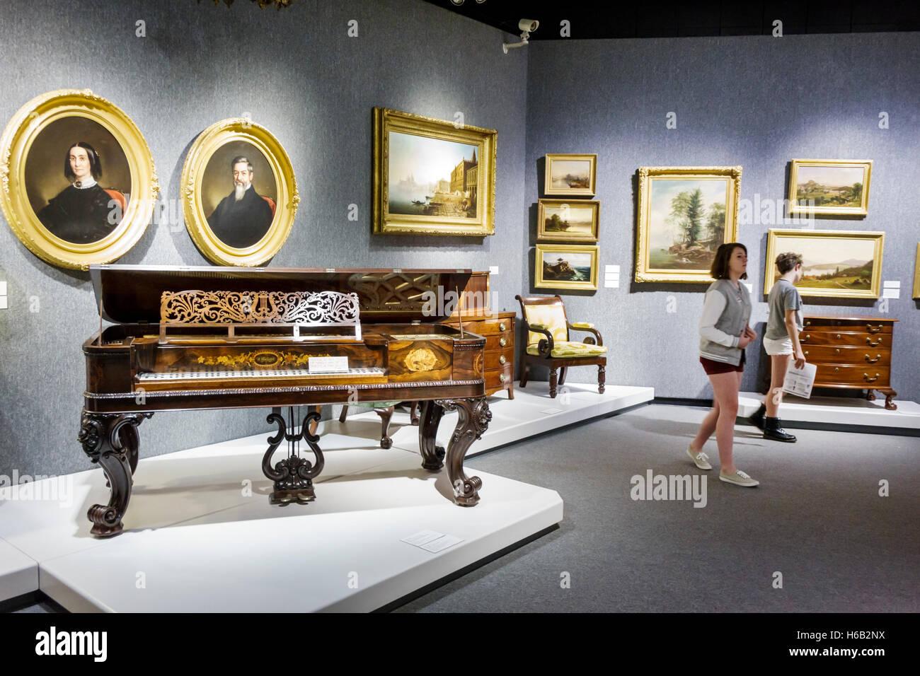 Daytona Beach Florida Museum of Arts & Sciences MOAS all'interno di primi mobili Immagini Stock