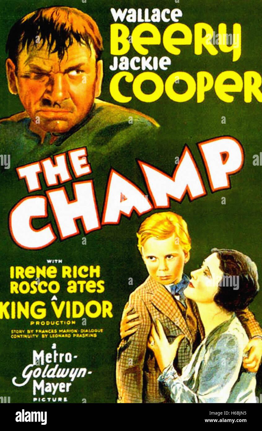 Il Champ,(1931) - Movie Poster - Immagini Stock