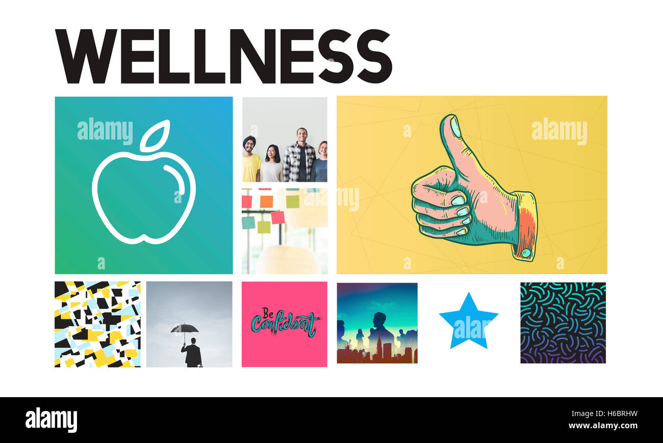 Nutrizione di Apple di assistenza sanitaria il concetto di benessere Immagini Stock