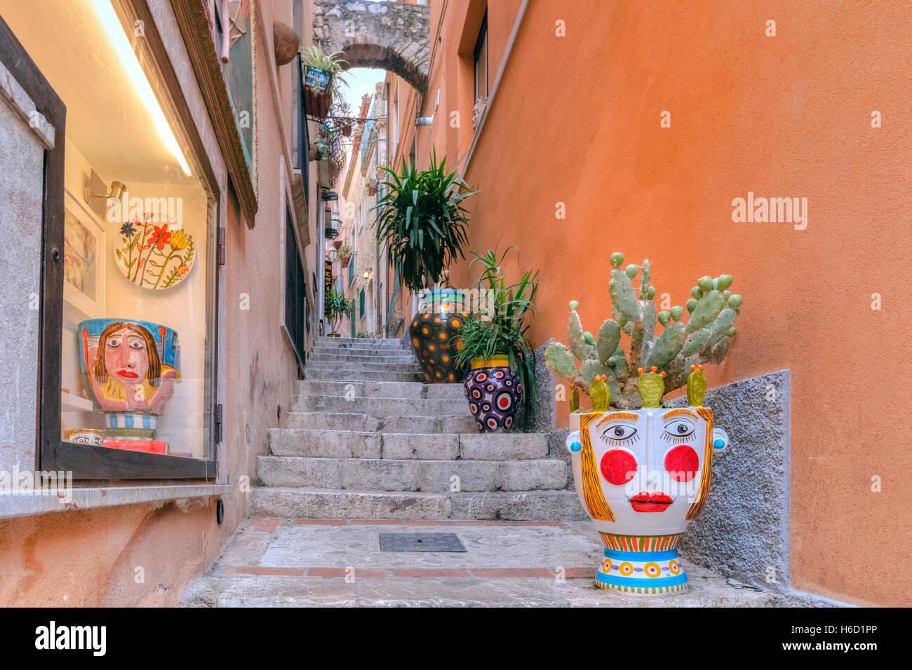 Taormina, Messina, Sicilia, Italia Immagini Stock
