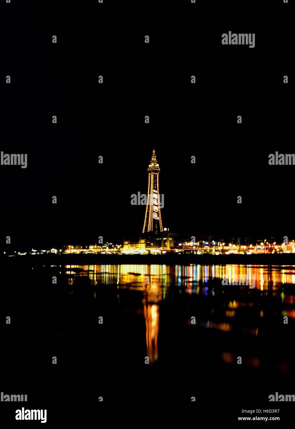 La Blackpool Tower. Lancashire. In Inghilterra. Regno Unito Immagini Stock