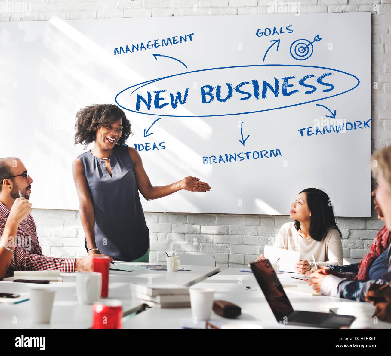 Crescita del business il concetto di strategia Immagini Stock