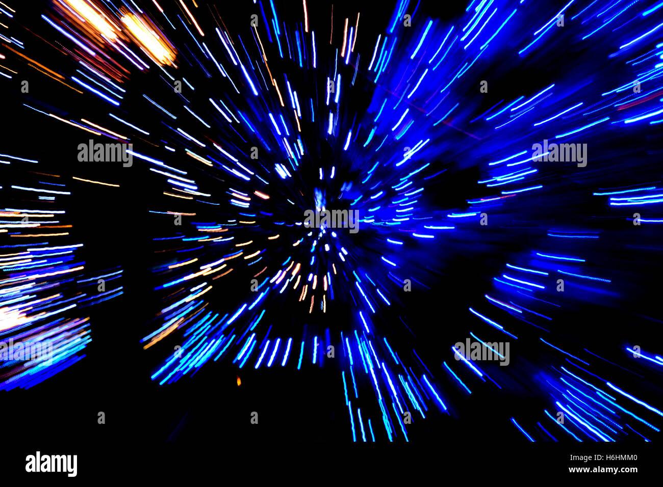 Velocità astratta sfondo tecnologico. Spazio di viaggio Immagini Stock