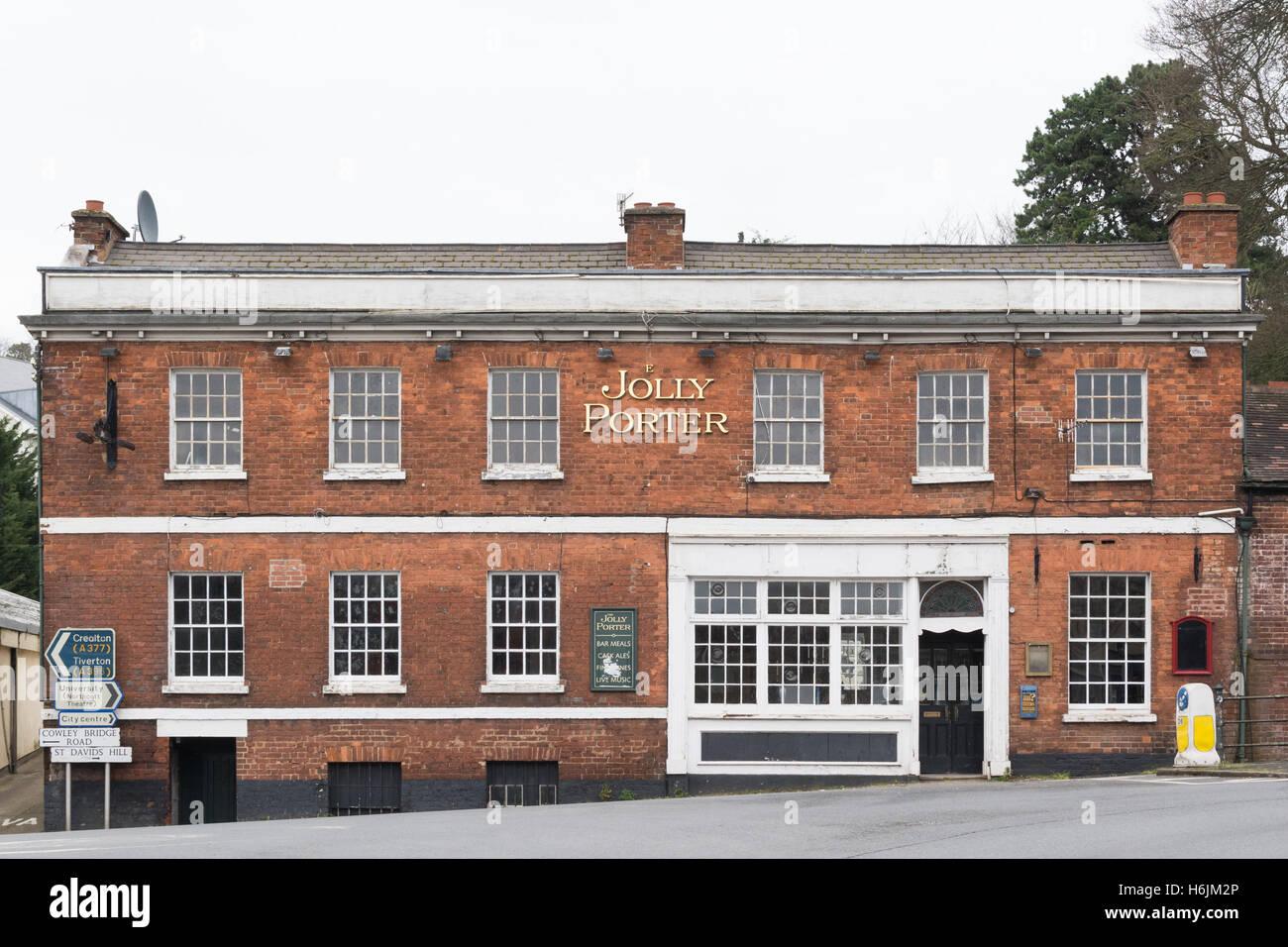 Il Jolly Porter pubblica permanente della casa vuota - Exeter Devon, Inghilterra, Regno Unito Immagini Stock