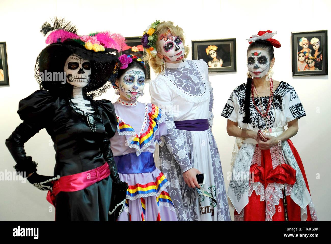 BAMBINO Teschio dei morti zucchero giorno Halloween Ragazze Costume Età 513