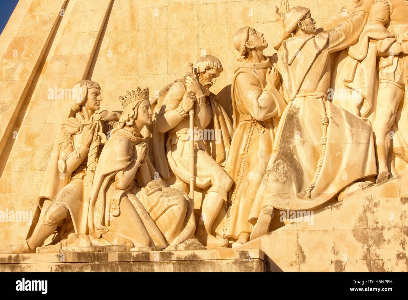 Il Monumento delle Scoperte a Lisbona Immagini Stock