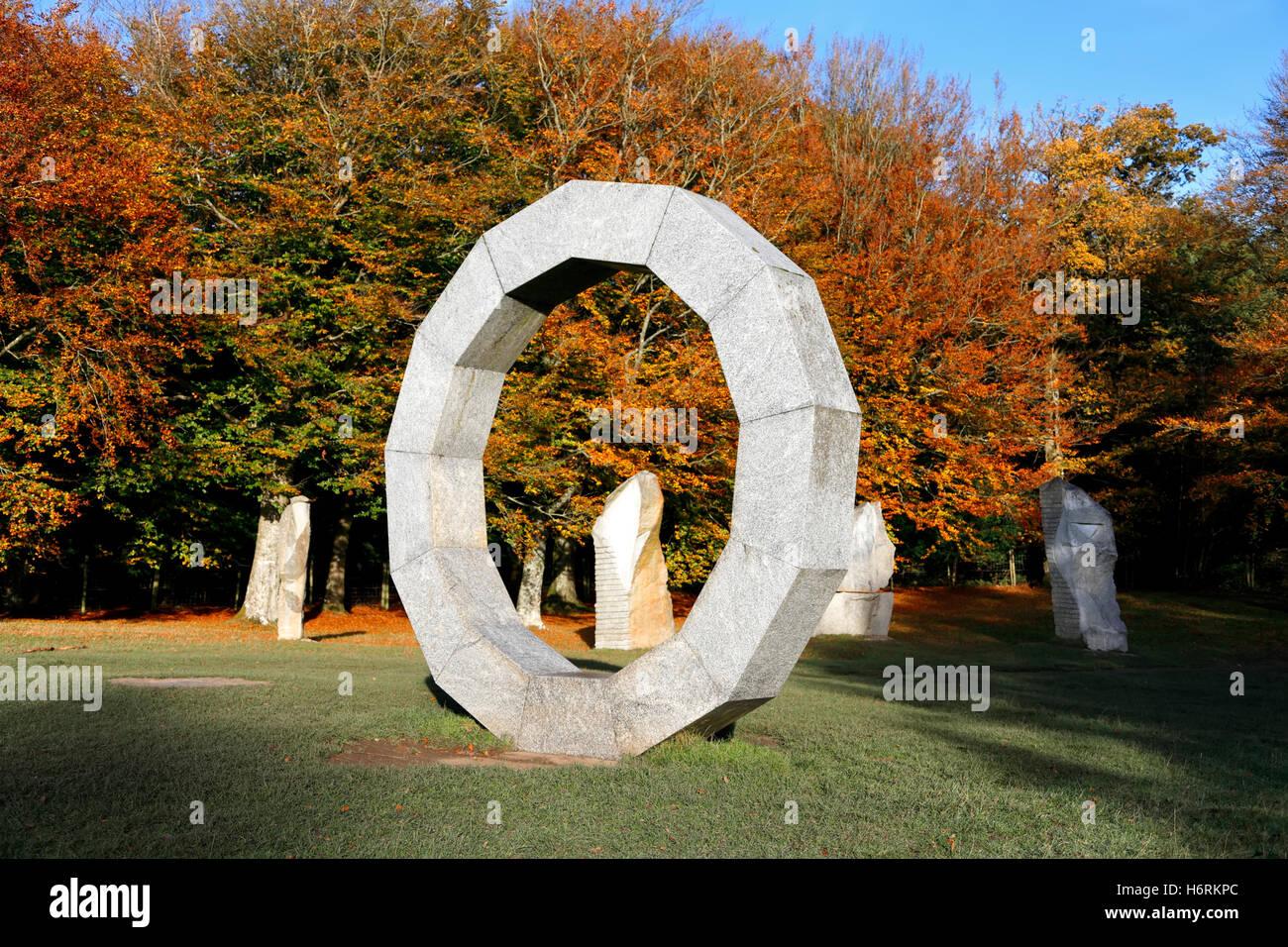 Heaven's Gate, longleat Safari & Adventure Park, Wiltshire, Regno Unito. Il 31 ottobre 2016. I colori autunnali Immagini Stock