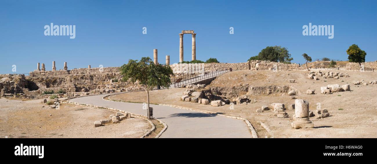 Cittadella di Amman, Giordania Immagini Stock