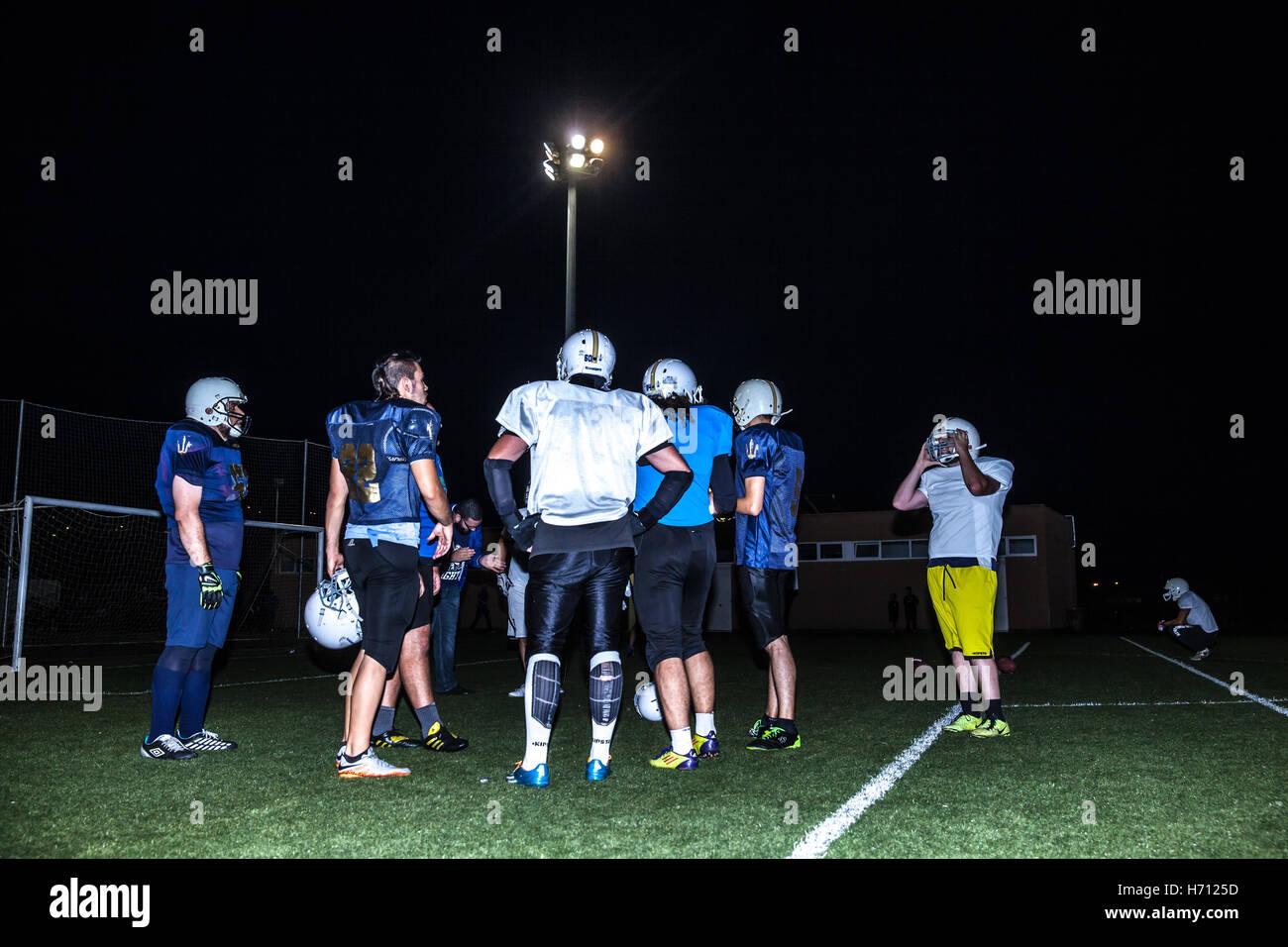 American football giocatori Immagini Stock
