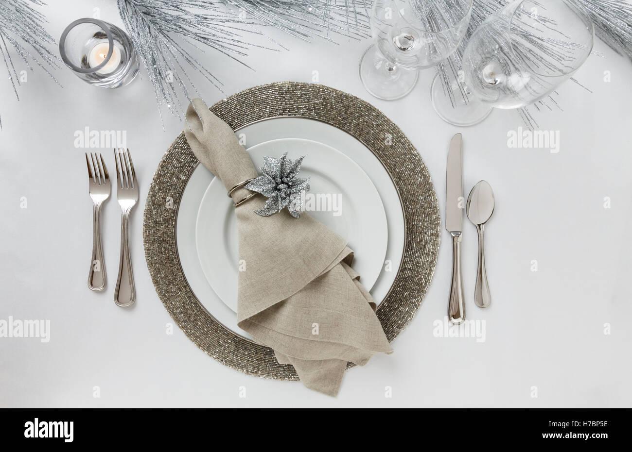 Decorazioni Sala Capodanno : Festosa fantasia fine formale sala da pranzo di natale o di