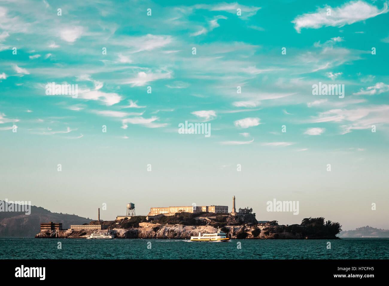 Foto della prigione di Alcatraz a San Francisco, California Immagini Stock