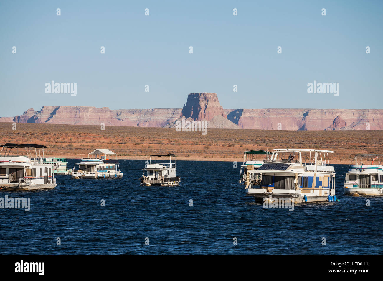 Il Lake Powell a Glen Canyon National Recreation Area in Northern Arizona. Immagini Stock