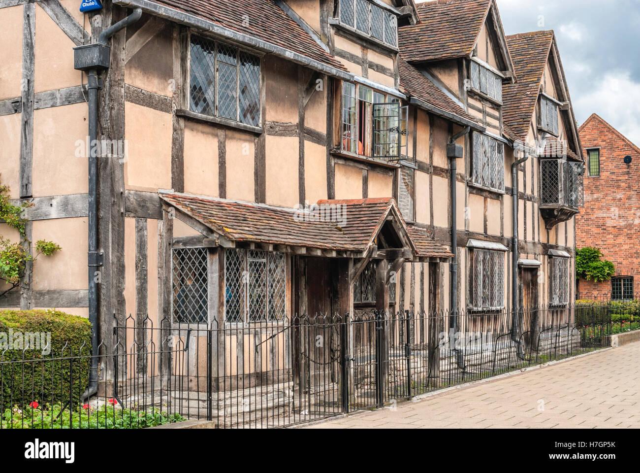 Il luogo di nascita di Shakespeare dove era nato nel 1564 a Stratford upon Avon, Inghilterra Foto Stock