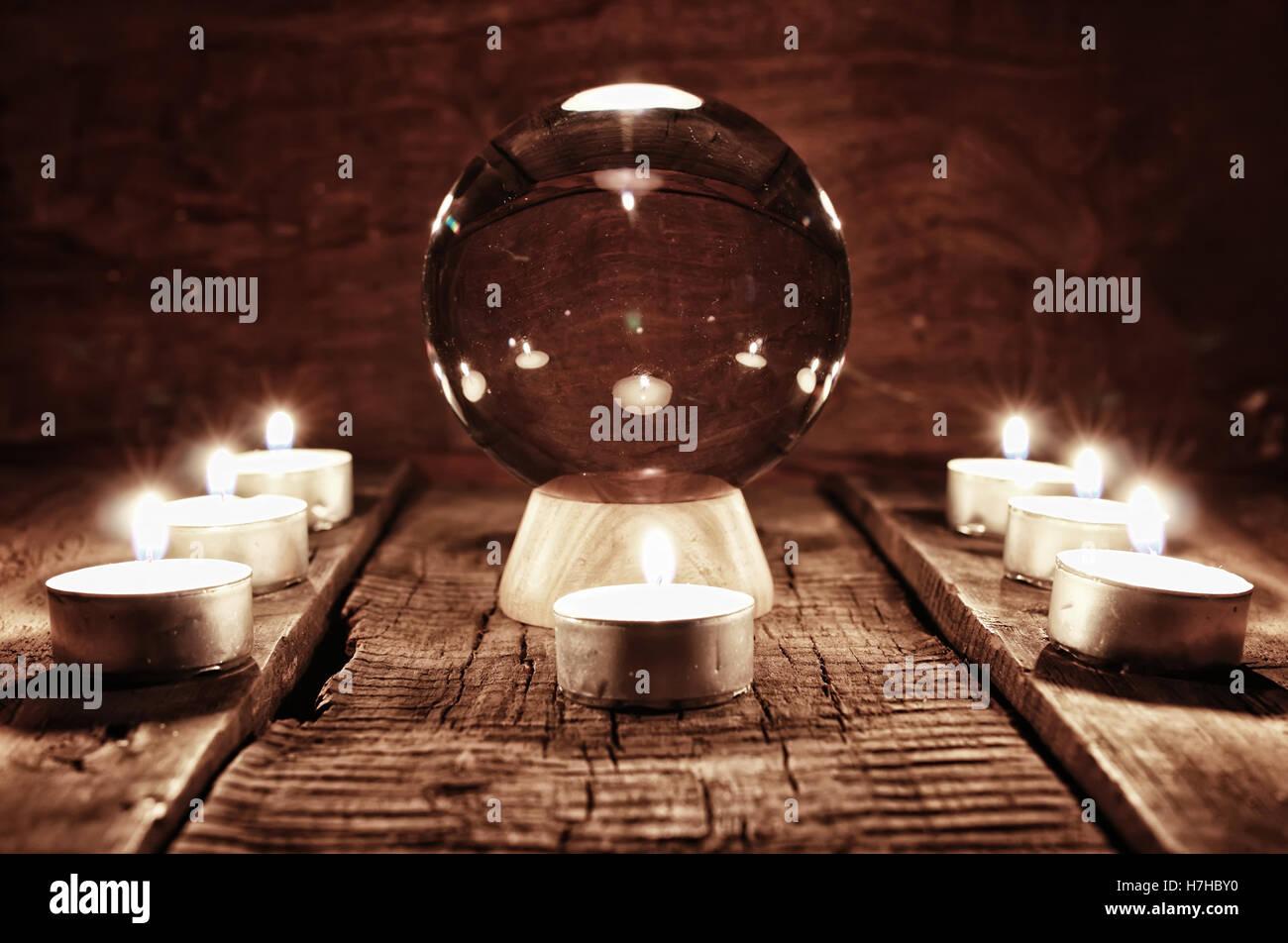 Futuro teller candela divinazione Immagini Stock
