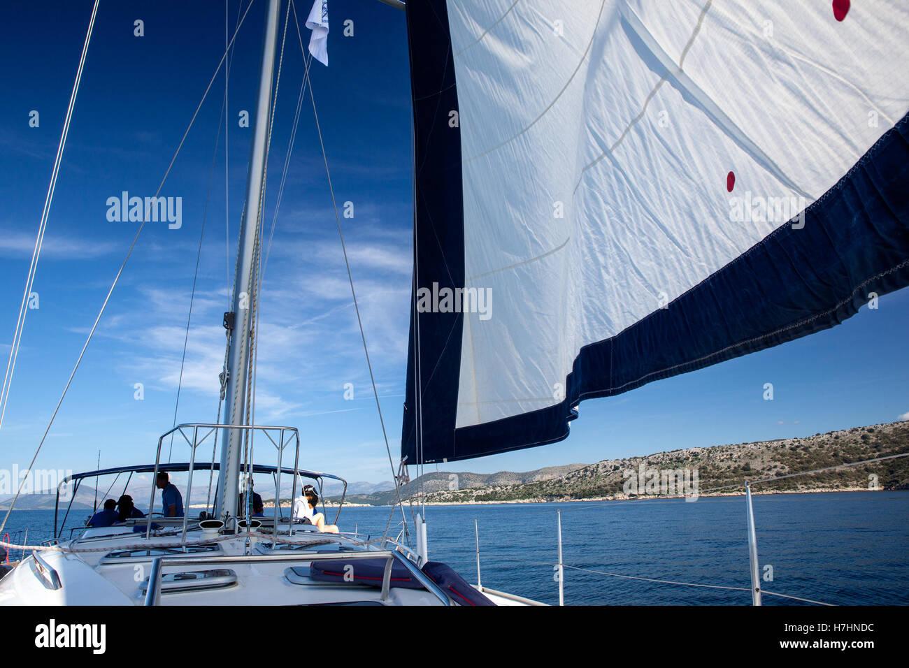 Yacht, regata a vela. Immagini Stock