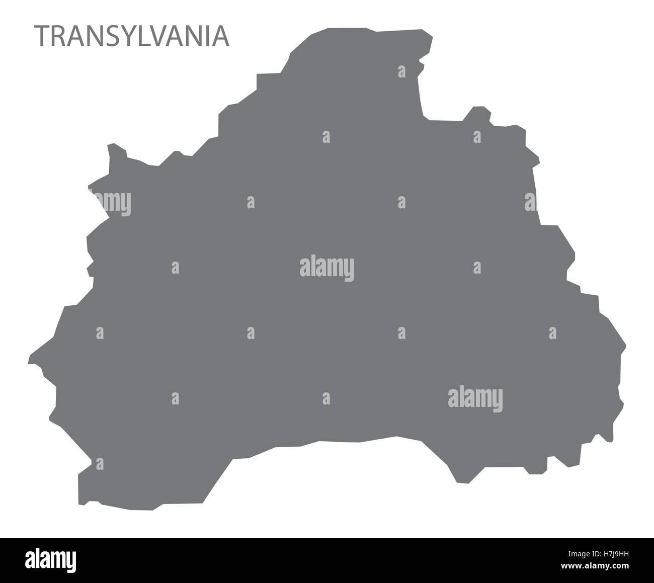 Transilvania Romania Cartina.Transilvania Romania Mappa Grigio Immagine E Vettoriale Alamy