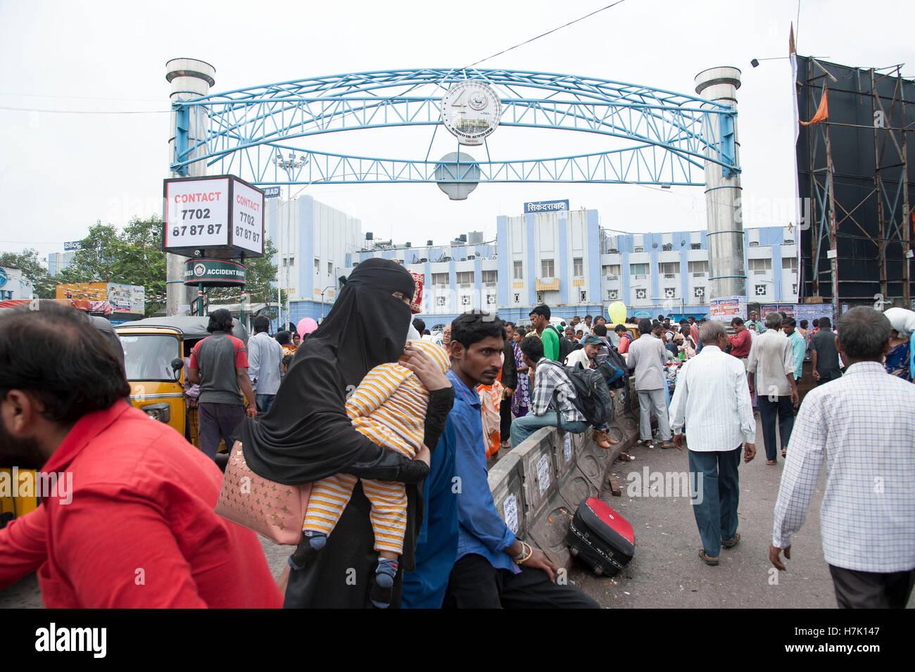 Giunzione Secunderabad stazione ferroviaria in Hyderabad Telangana india Immagini Stock