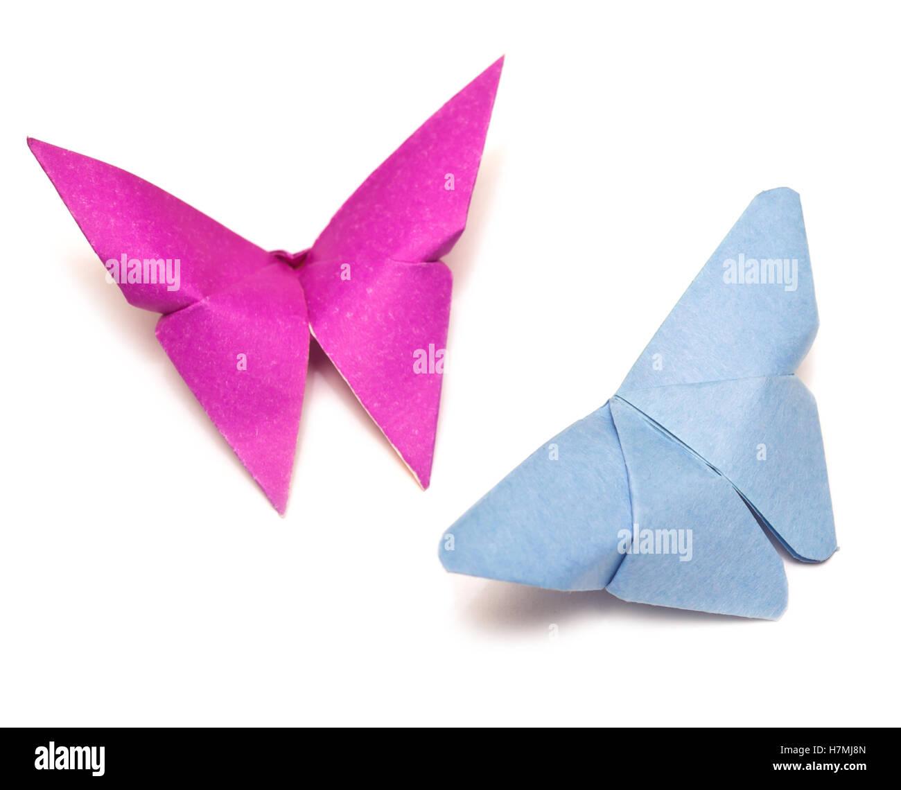 Farfalle su bianco Immagini Stock