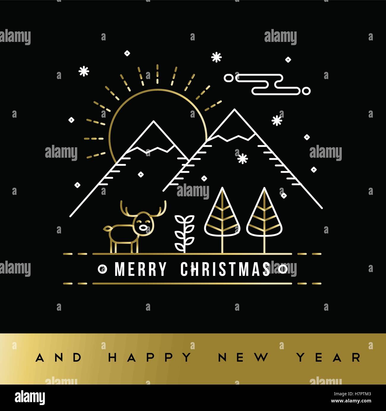 Buon Natale Arte.Auguri Di Buon Natale E Anno Nuovo Messaggio Di Saluto Gold Card In Struttura Moderna Arte Stile Foresta Invernale Illustrazione Con Decorazione Di Vacanza Immagine E Vettoriale Alamy