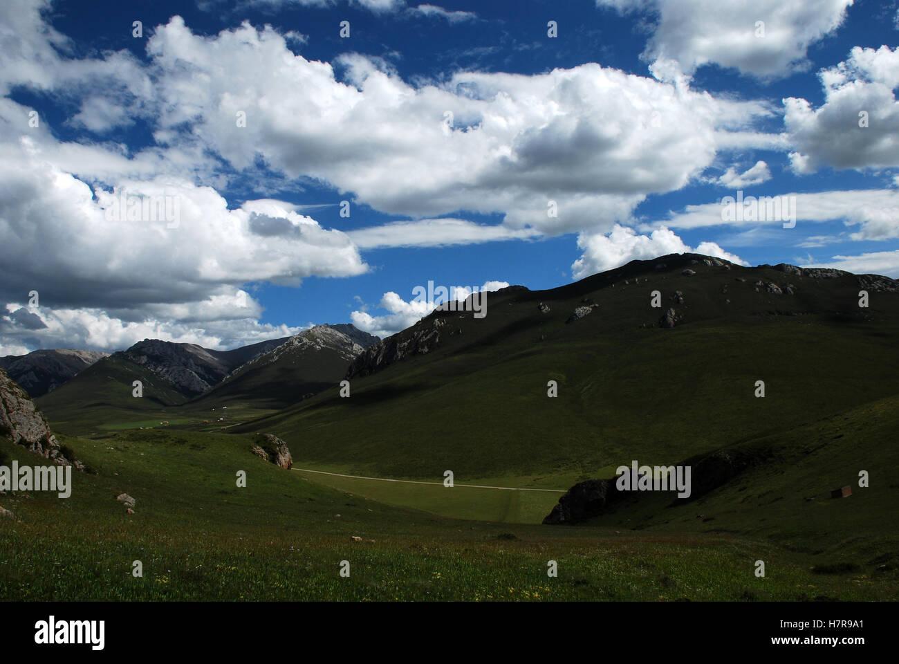 Montagna in Tibet Immagini Stock