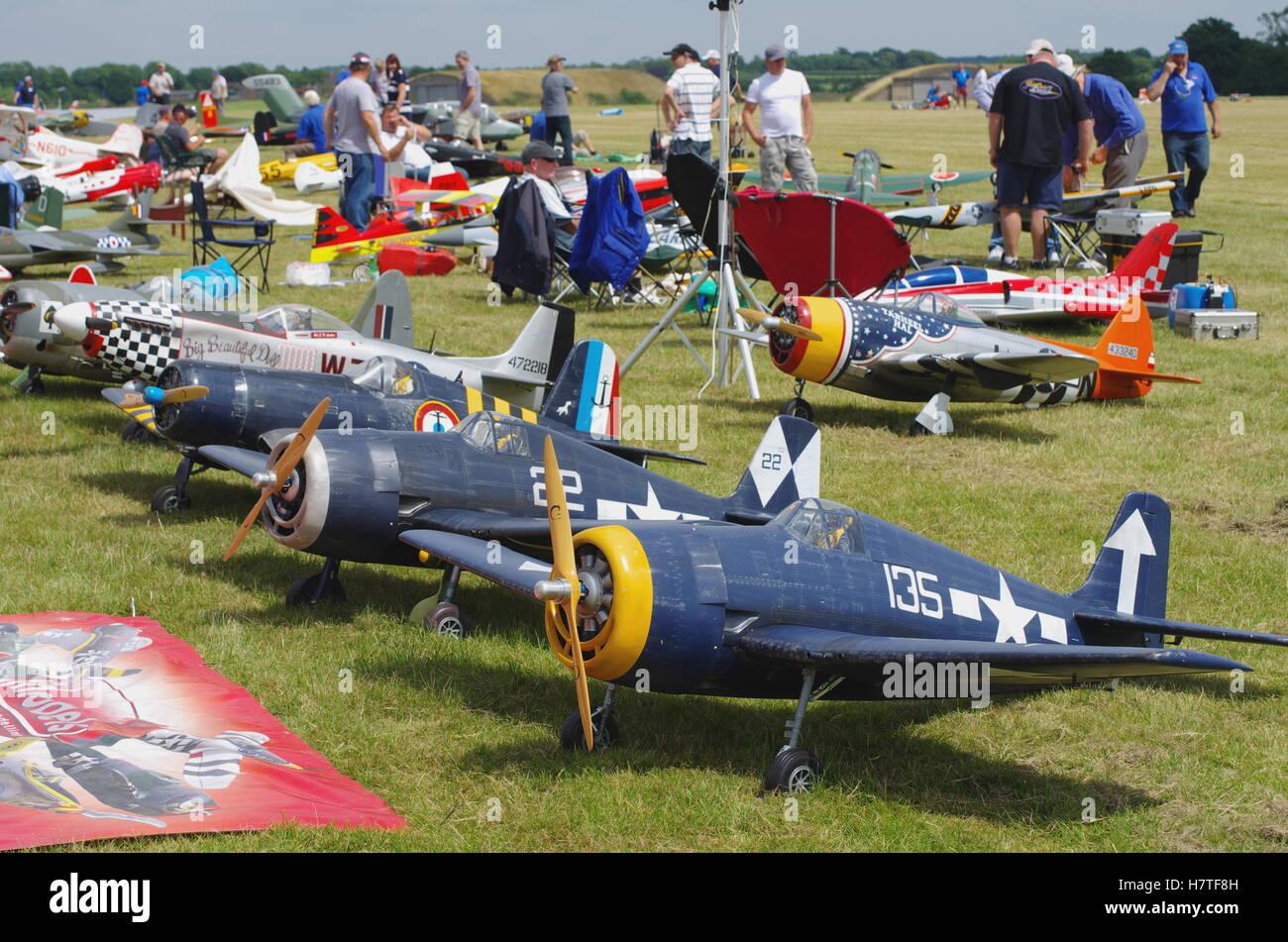 Larga scala aereo modello a RAF Cosford Airfield Immagini Stock