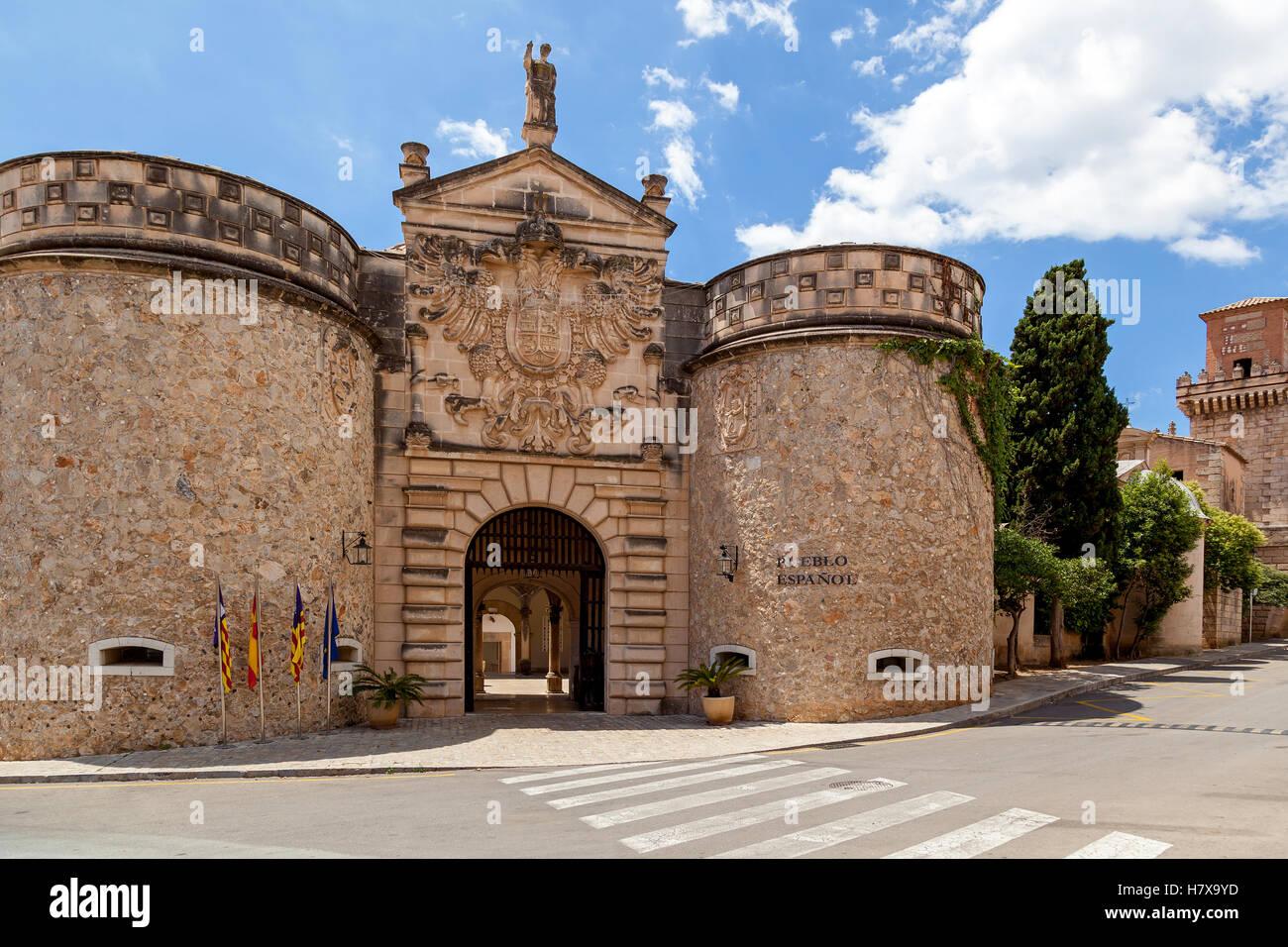 Pable Espanol villaggio spagnolo un museo a cielo aperto in Palma de Mallorca. Si trova nel quartiere di figlio Immagini Stock